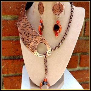 NEW Copper Necklace Earrings Handcrafted Jewelry